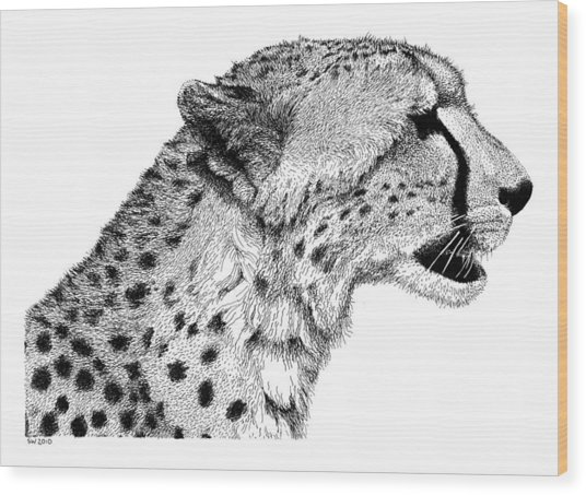Cheetah Wood Print