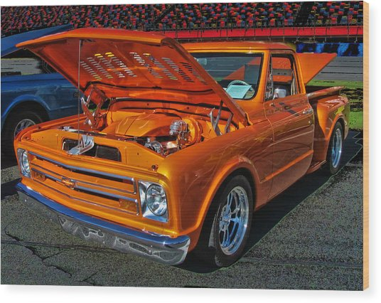 Chevy Stepside Wood Print