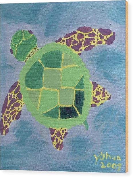 Chiaras Turtle Wood Print