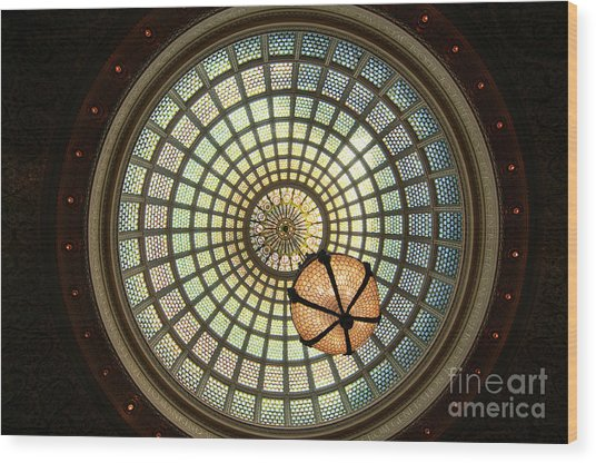 Chicago Cultural Center Dome Wood Print
