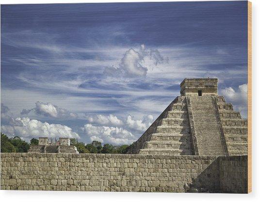 Chichen Itza, El Castillo Pyramid Wood Print