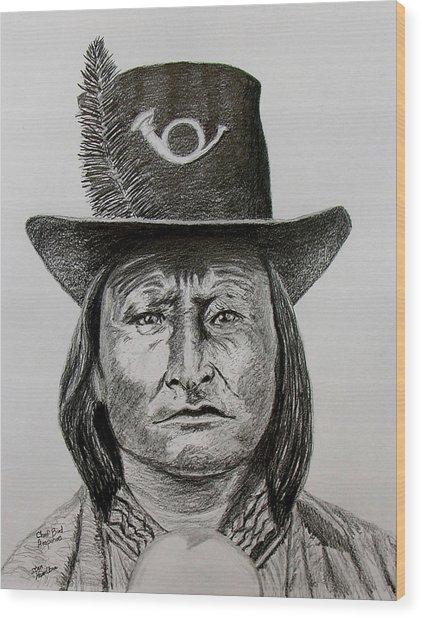 Chief Bird Arapahoe Wood Print by Stan Hamilton