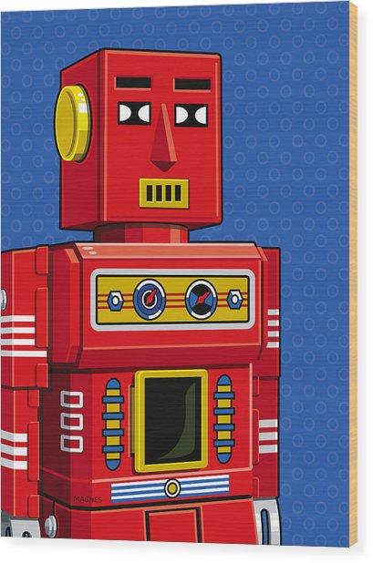 Chief Robot Wood Print
