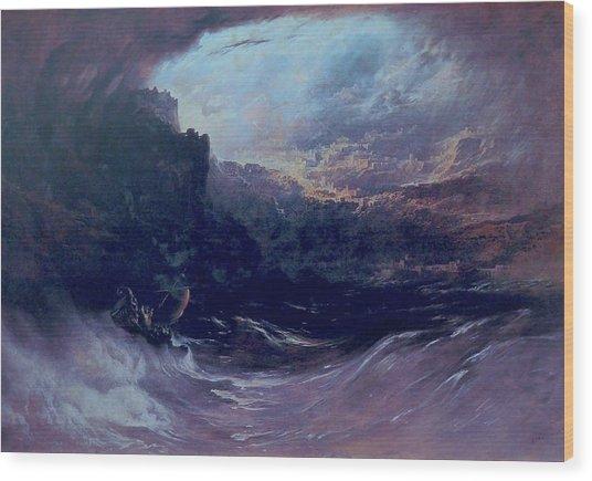 Christ Stilleth The Tempest Wood Print