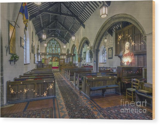Christmas Church Wood Print