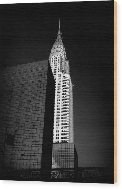 Chrysler Noir Wood Print