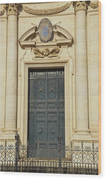 Church Entry Wood Print by JAMART Photography