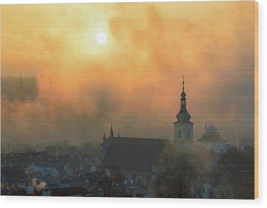 Church Of Our Lady Victorious, Prague, Czech Republic. Wood Print