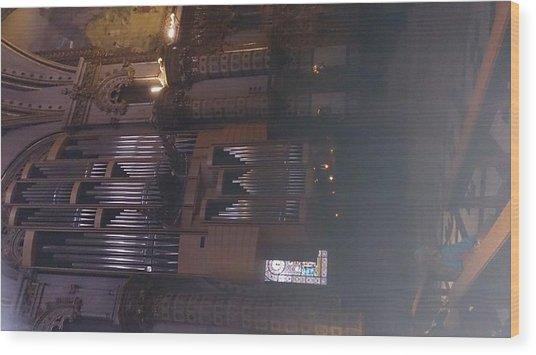 Church Organ  Wood Print