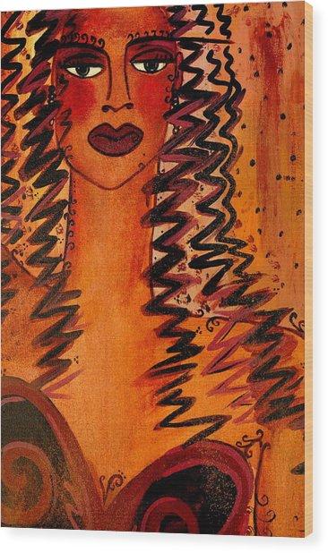 Cigar Makers Daughter Wood Print by Helen Gerro