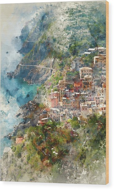 Cinque Terre In Italy Wood Print
