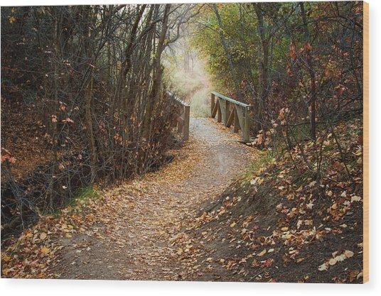 City Creek Bridge Wood Print