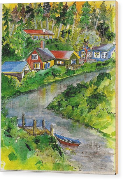 Clallam River Wood Print by KC Winters