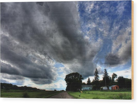 Cloud Lane Wood Print