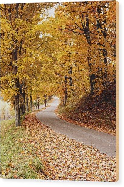 Cloudland Rd., Woodstock Vt Wood Print