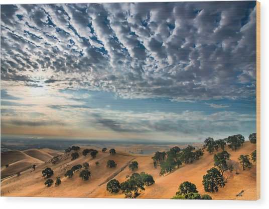 Clouds Over East Bay Hills Wood Print