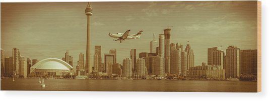 Cn Tower Drive-by Wood Print