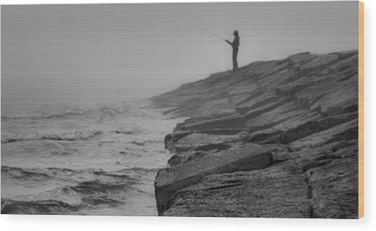 Coastal Solitude Wood Print by James Woody