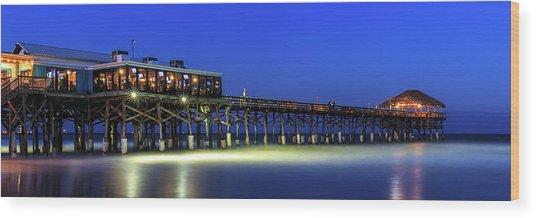 Cocoa Beach Pier At Twilight Wood Print