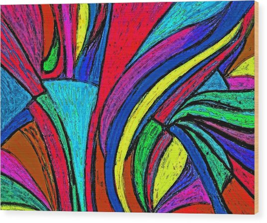 Color Flow Wood Print by Cassandra Donnelly