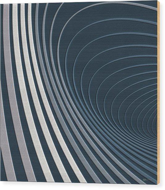 Color Harmonies - Mountain Mist Wood Print
