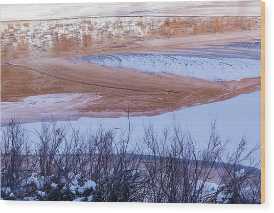 Wood Print featuring the photograph Colorado River In Winter by Deborah Hughes
