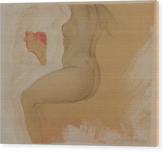 Composite Female Nude Wood Print by Gary Kaemmer