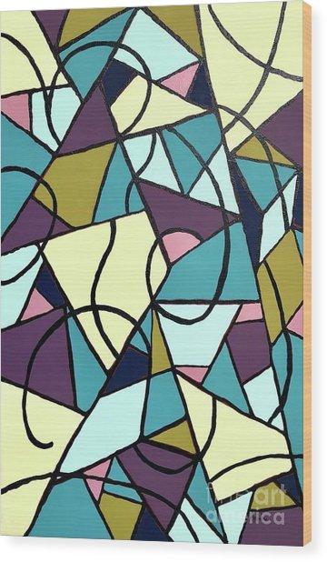 Composition #22 Wood Print