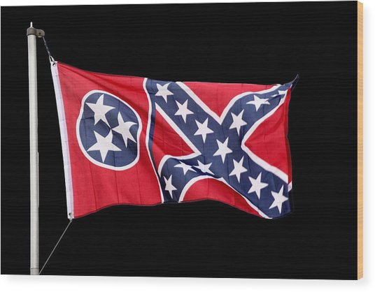 Confederate-flag Wood Print