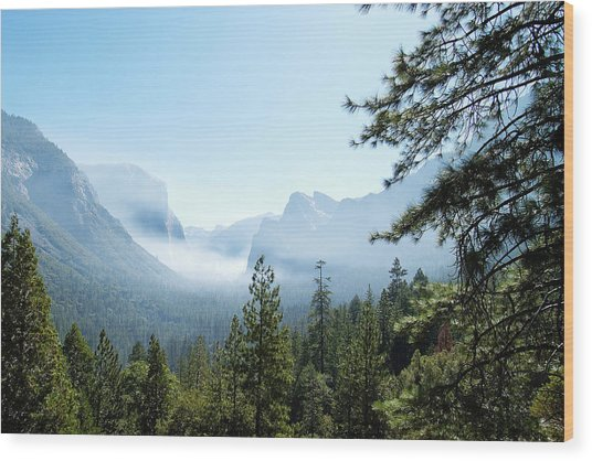 Controlled Burn Of Yosemite Wood Print