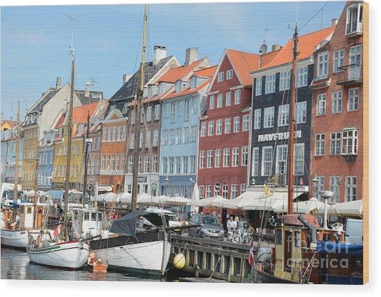 Copenhagen Harbor II Wood Print by Andrea Simon