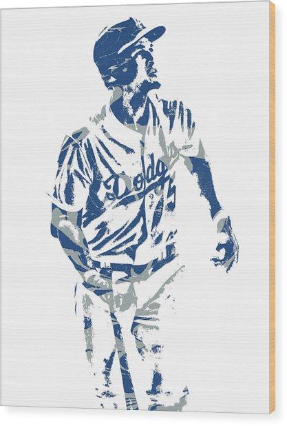 Corey Seager Los Angeles Dodgers Pixel Art 10 Wood Print
