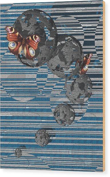 Cosmos Wood Print by Haruo Obana