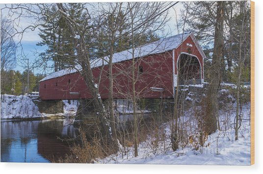 Cresson Covered Bridge. Wood Print