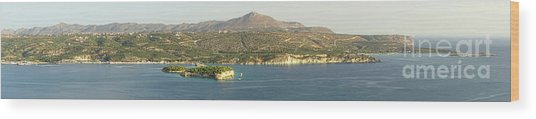 Crete Panoramic Wood Print by HD Connelly