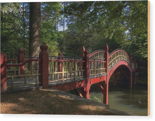 Crim Dell Bridge Wood Print