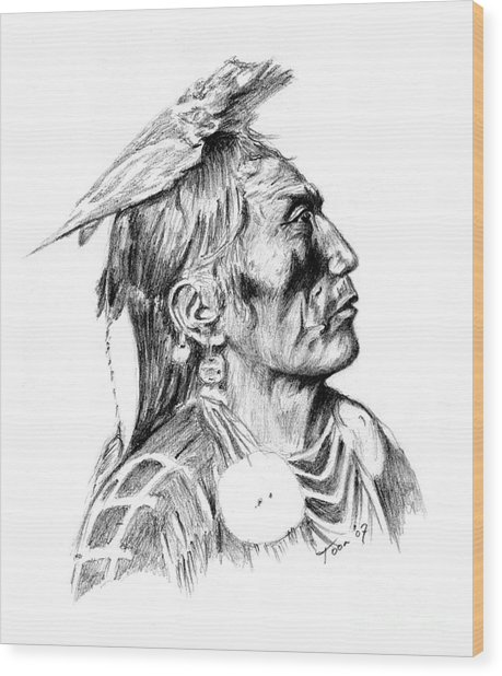 Crow Medicine Man Wood Print