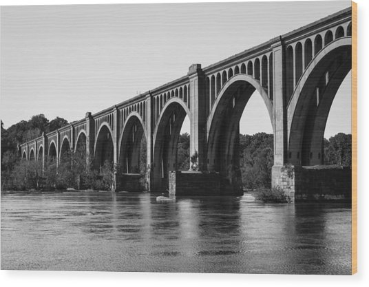 Csx A-line Bridge Wood Print