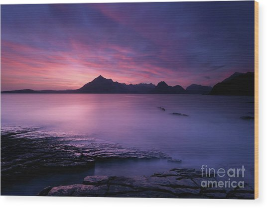 Cuillins At Sunset Wood Print