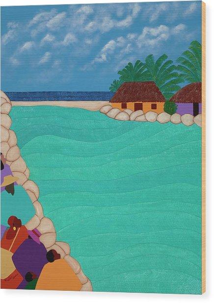 Curacao Lagoon Wood Print