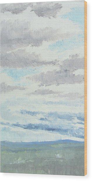 Dagrar Over Salenfjallen- Shifting Daylight Over Distant Horizon 9 Of 10_0029 Wood Print