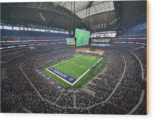 Dallas Cowboys Att Stadium Wood Print