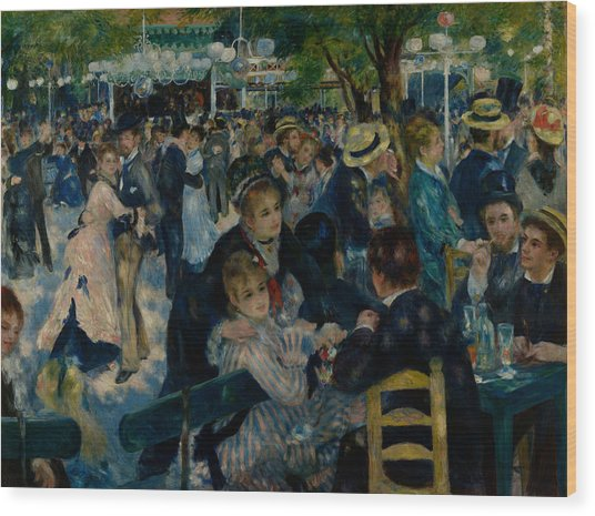Dance At Le Moulin De La Galette  Wood Print