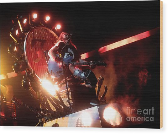 Dave Grohl - Foo Fighters Wood Print