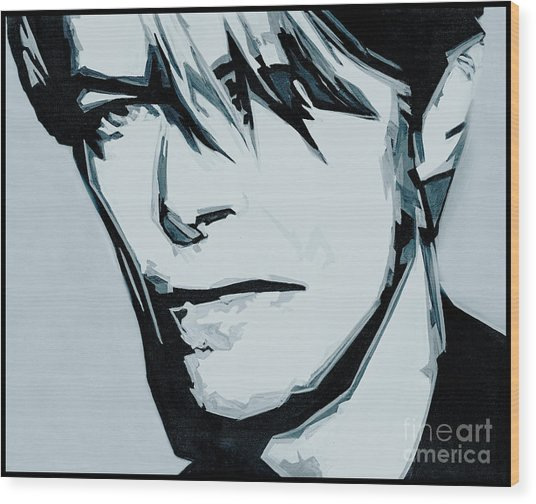 Born Under A Stone Born With A Single Voice. Bowie Wood Print