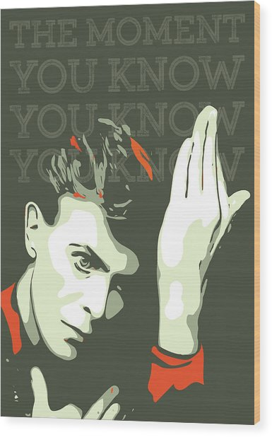 David Bowie Wood Print