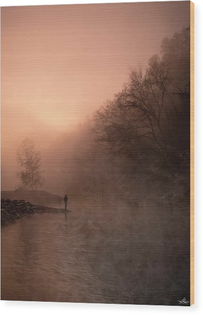 Dawn On The Lower Mountain Fork River Wood Print