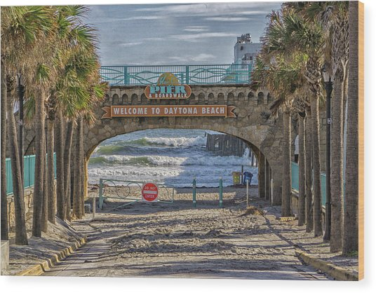 Daytona Beach Wood Print