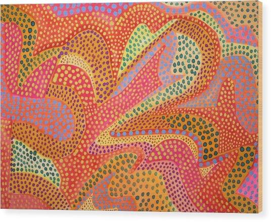 Dazzling Dots Wood Print