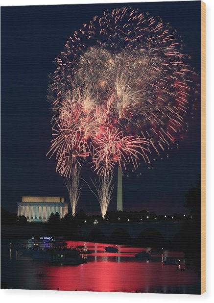 Dc 4th Of July Wood Print